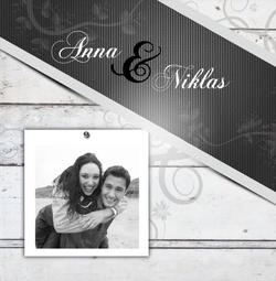 Foto Hochzeitseinladungen: glänzendes Papier