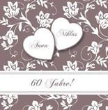 Einladungskarten Diamantene Hochzeit   Hochzeitseinladung Einladung  Diamantene Hochzeit Jb1908092, Vk