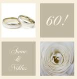 Einladungskarten Diamantene Hochzeit   Hochzeitseinladung Einladung  Diamantene Hochzeit Jb1908085, Vk