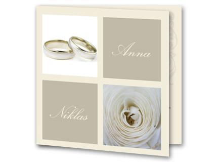 Hochzeitseinladung Mit Ringen Und Rosenzentrum
