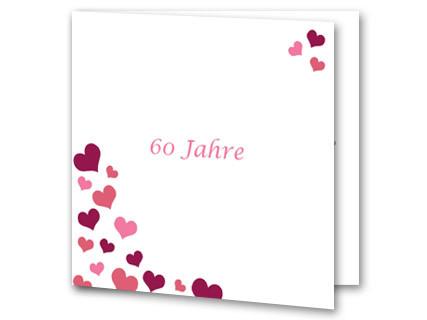 Einladungskarten Diamantene Hochzeit   Einladung Diamantene Hochzeit  Jb1908089, Vk. Hochzeitseinladung Diamanthochzeit Weiß Herzen Jb1908089vk