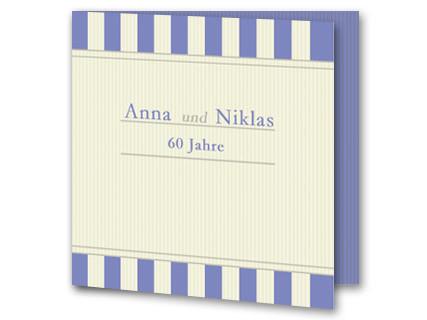 Hochzeitseinladung Diamanthochzeit Weiß Lila Eb1908091vk