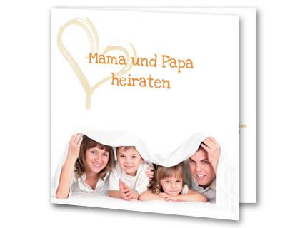 Hochzeitseinladung Elternhochzeit Foto Weiß Mak16014