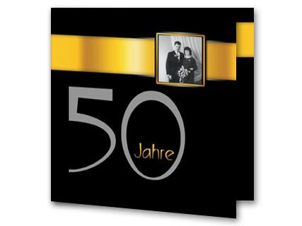 Hochzeitseinladung Goldhochzeit Schwarz Gold Rb1908052vk