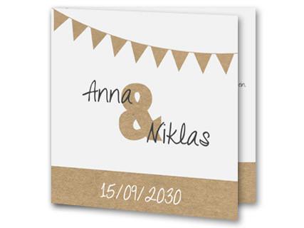 Hochzeitseinladung Modern Braune Girlanden Jb16110701vk
