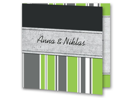 Hochzeitskarte Modern Mit Grun Grau Und Weiss