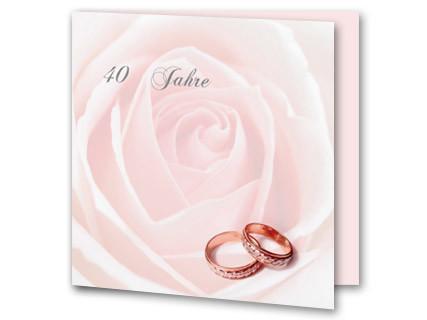 einladungskarten rubinhochzeit - 40 jähriges jubiläum, Einladung