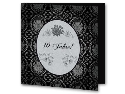 einladung rubinhochzeit mit mandalas auf grau, Kreative einladungen