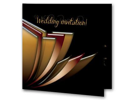 Hochzeitseinladung Klassisch In Schwarz Und Gold