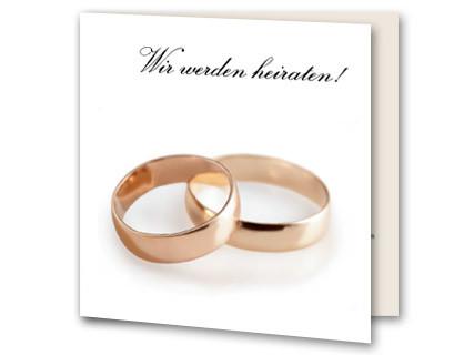 Hochzeitskarte Klassische Hochzeitsringe Auf Weiss