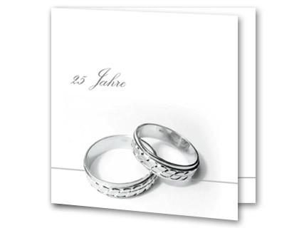 Einladung Zur Silberhochzeit Silberne Ringe Auf Weiss