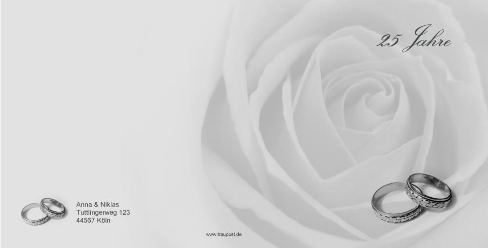 hochzeitseinladung mit rosaner rose zum jubil um. Black Bedroom Furniture Sets. Home Design Ideas