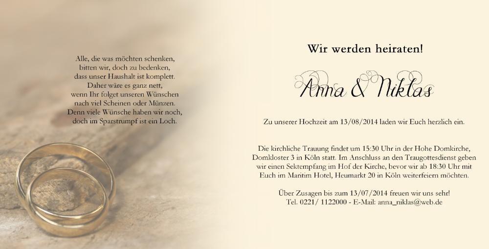 Hochzeitseinladung klassisch mit wei en perlen - Hochzeitseinladung text modern ...