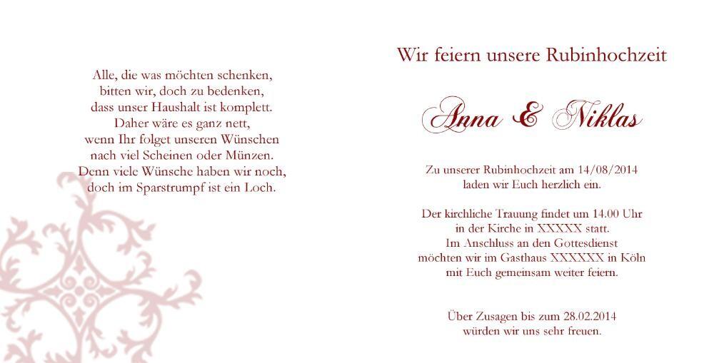 Hochzeitseinladung Weiß Keltische Muster Mk1808012vk Rückseite/Vorderseite  Hochzeitseinladung Weiß Keltische Muster Mk1808012vk Innenseite