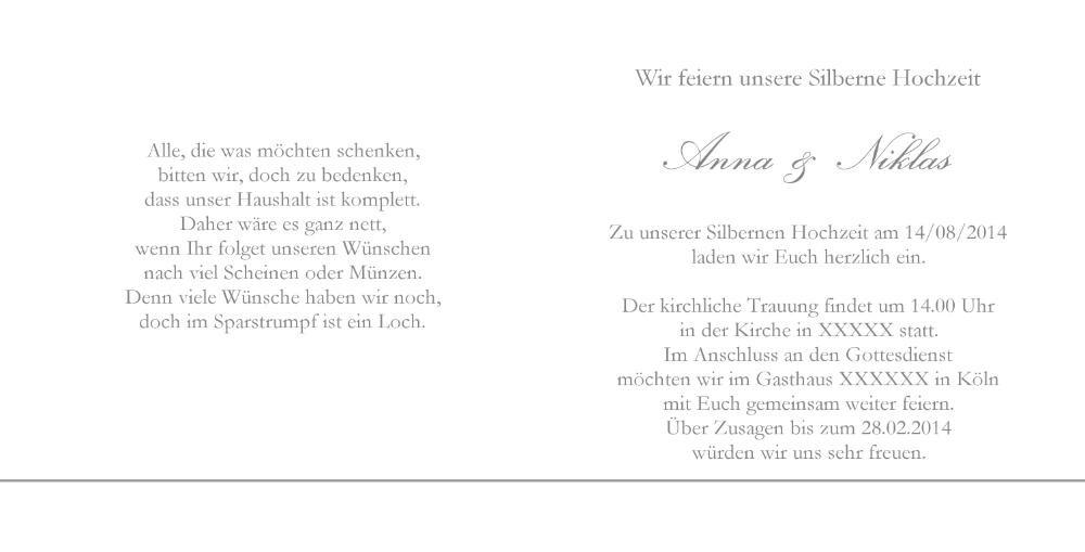 Hochzeitseinladung Weiß Ringe Grau Jo1908009vk Rückseite/Vorderseite  Hochzeitseinladung Weiß Ringe Grau Jo1908009vk Innenseite