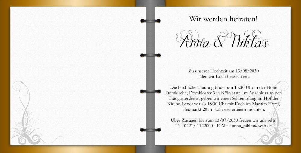 die schönsten Hochzeitseinladungen ganz einfach online bestellen!